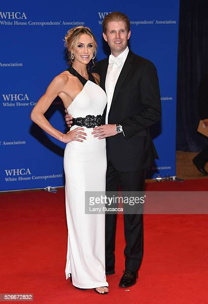 Lara Yunaska and Eric Trump attend the 102nd White House Correspondents' Association Dinner on April 30 2016 in Washington DC