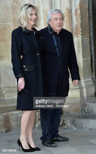 Laraine Ashton and Terry O'Neill attend a service to celebrate the life of Sir David Frost at Westminster Abbey London