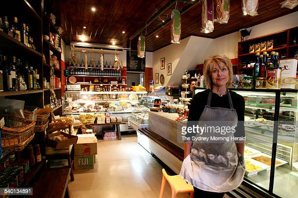 Laraine Russo in her deli Paddington Alimentari at 2 Hopetoun street 29 August 2006 SMH Picture by DOMINO POSTIGLIONE