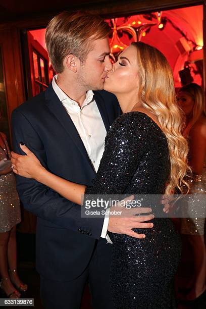 LaraIsabelle Rentinck and her fiance Robert Gundlach during the Lambertz Monday Night 2017 at Alter Wartesaal on January 30 2017 in Cologne Germany
