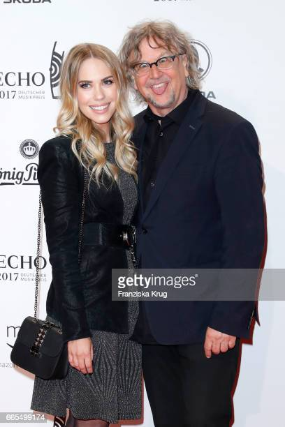 LaraIsabelle Rentinck and Martin Krug attend the Echo award red carpet on April 6 2017 in Berlin Germany