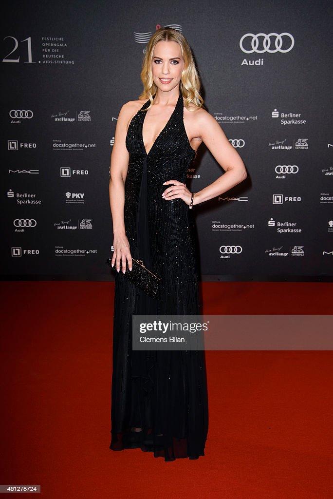Lara-Isabelle Rentinck attends the 21st Aids Gala at Deutsche Oper Berlin on January 10, 2015 in Berlin, Germany.