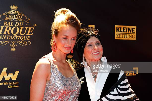 LaraJoy Koerner and Diana Koerner attend the Bal Du Cirque Fantastique on the occasion of the 25th anniversary of the Casino Velden at Casino Velden...