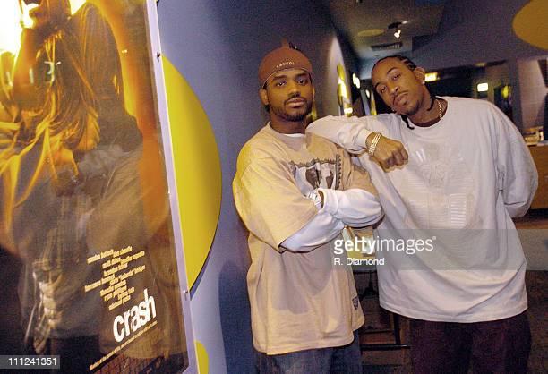 Larenz Tate and Chris 'Ludacris' Bridges during Ludacris Hosts a VIP Screening of the LionsGate Film 'Crash' at Landmark Theater in Atlanta Georgia...