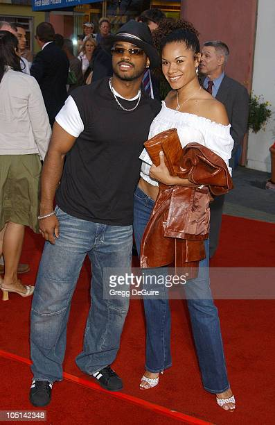 Larenz Tate and guest during The World Premiere Of '2 Fast 2 Furious' Arrivals at Universal Amphitheatre in Universal City California United States