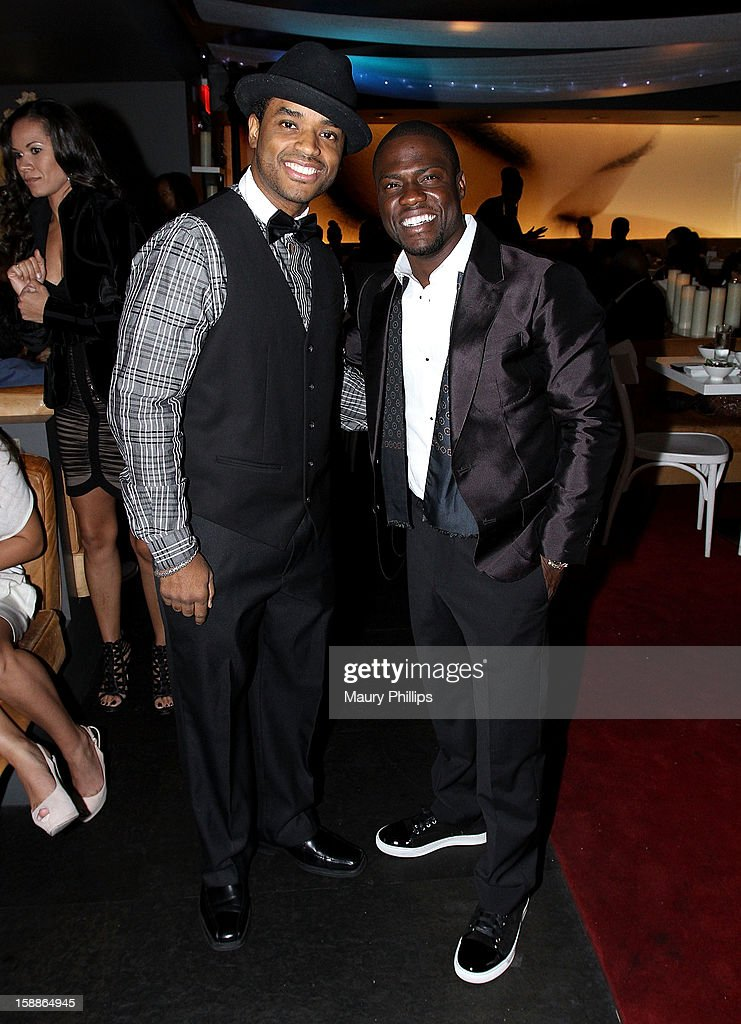 <a gi-track='captionPersonalityLinkClicked' href=/galleries/search?phrase=Larenz+Tate&family=editorial&specificpeople=240287 ng-click='$event.stopPropagation()'>Larenz Tate</a> and Kevin Hart attend a private dinner for Kevin Hart on December 31, 2012 in Los Angeles, California.