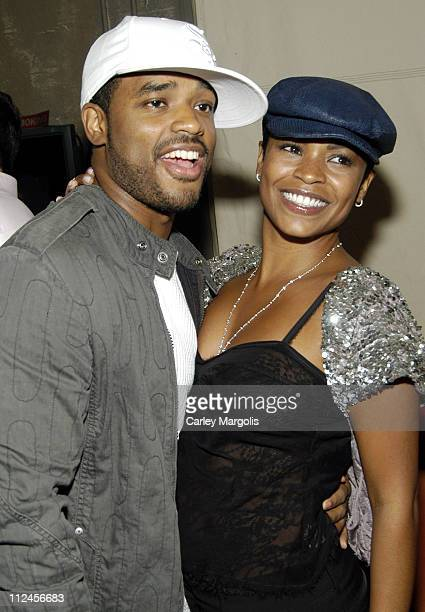 Larenz Tate and Nia Long during Nia Long's Birthday Celebration at Cain November 8 2005 at Cain in New York City New York United States