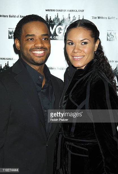 Larenz Tate and wife Tomasina during The 58th Annual Writers Guild Awards Arrivals at The Waldorf Astoria Starlight Roof in New York New York United...