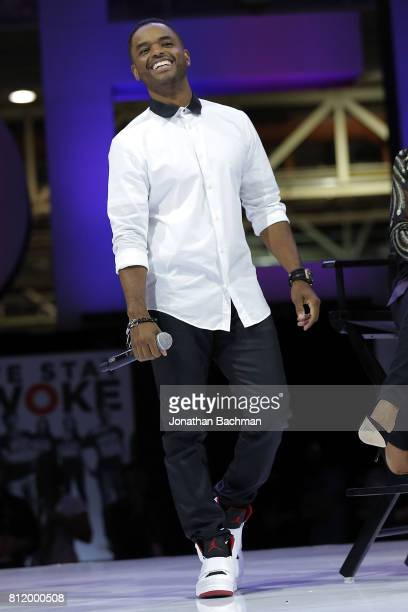 Larenz Tate from the movie Girls Trip speaks during the Essence Music Festival at the Ernest N Morial Convention Center on July 1 2017 in New Orleans...