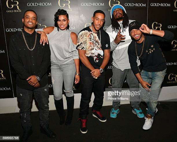 Larenz Tate Laura Govan Ludacris Marshawn Lynch and Terrence Jenkins attend LudaDay Weekend at Gold Room on September 2 2016 in Atlanta Georgia