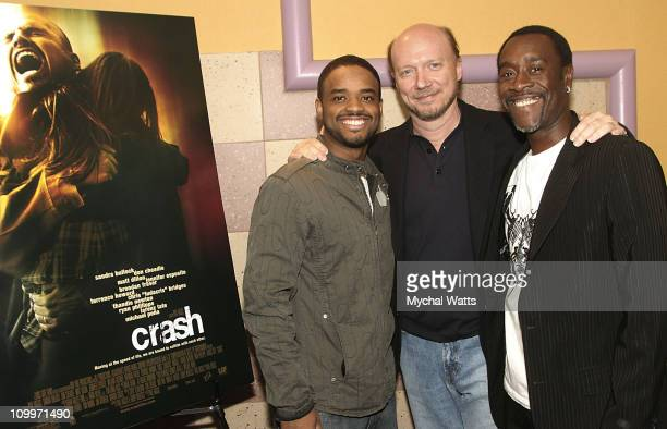 Larenz Tate Paul Haggis director and Don Cheadle