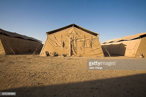 Large 20-man tent, transient housing
