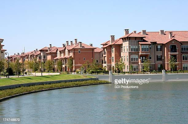Large Apartment Community Overlooking A Lake