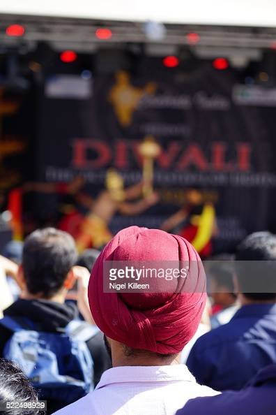Large audience gathered to watch traditional Indian performances during Diwali celebrations at Federation Square Melbourne Australia