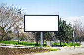Large blank billboard located on the side of the road.