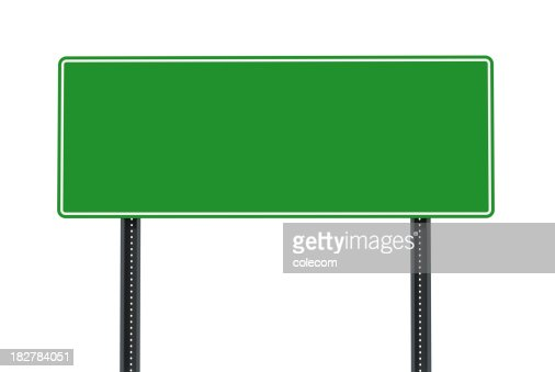 Large Blank Road Sign