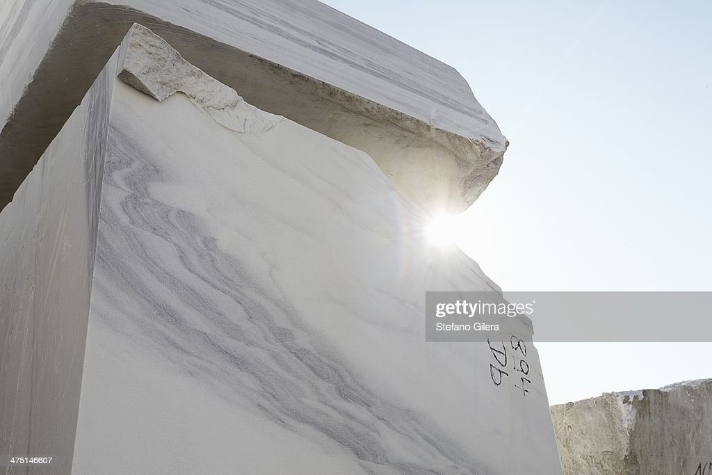 Large block of marble from quarry