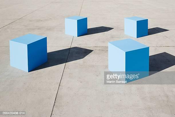 Large blue blocks