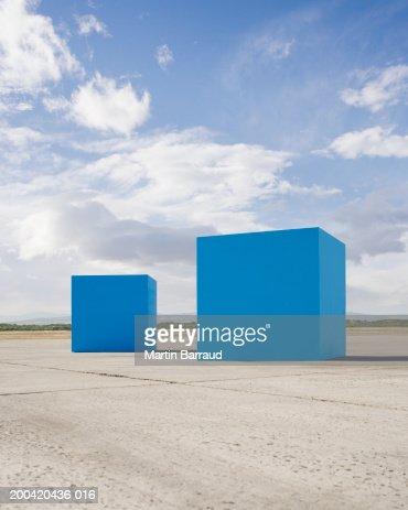 Large blue blocks : Stock Photo