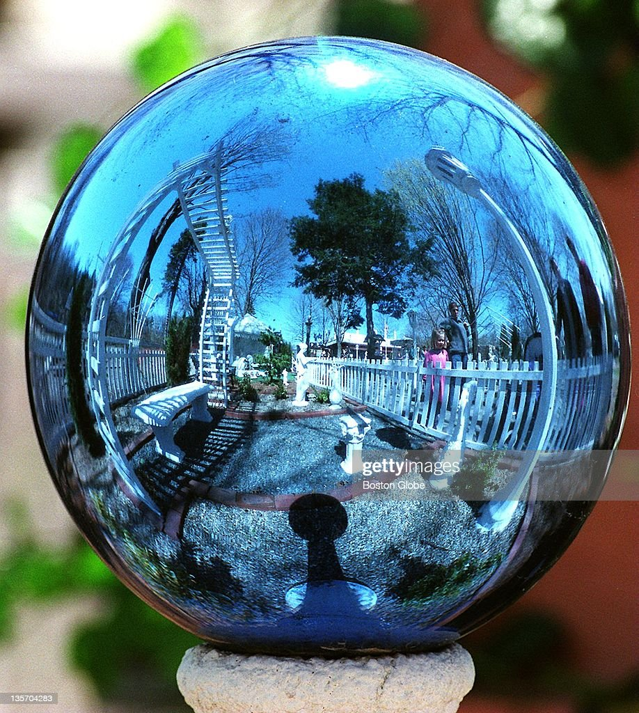 blue garden orb at the stone zoo pictures | getty images