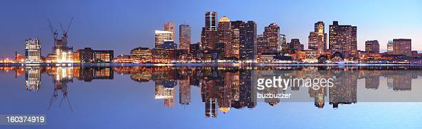 Large Boston City Panorama at Night