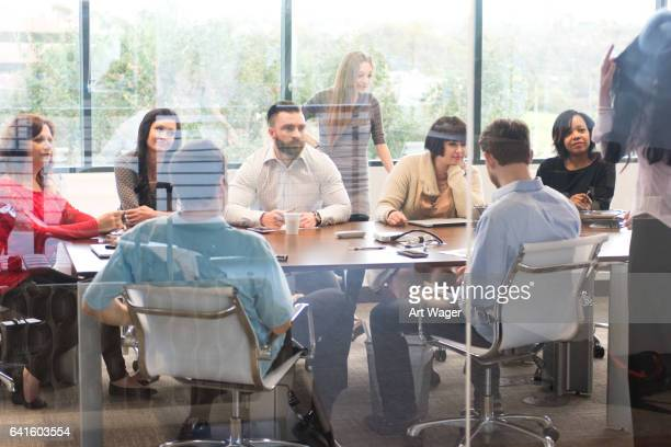 Large Business Team Meeting in the Office Conference Room