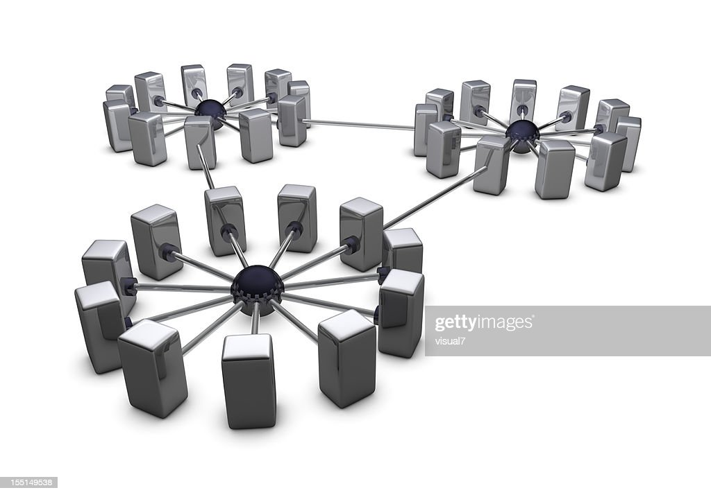 large chrome network : Stock Photo