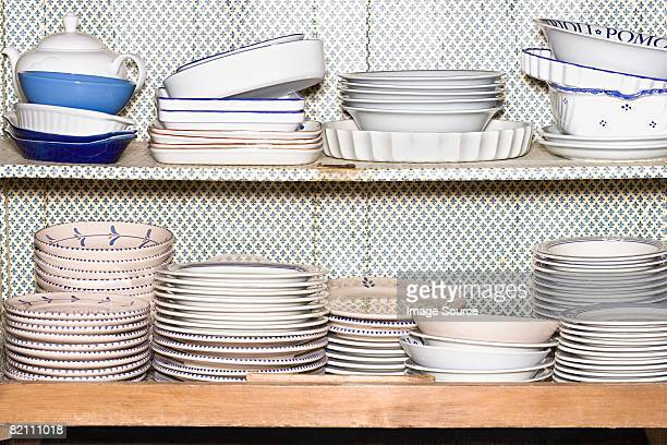 Large collection of plates and bowls