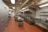 A large institutional kitchen.