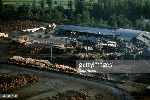 Large commercial sawmill, Idaho, USA : Foto de stock