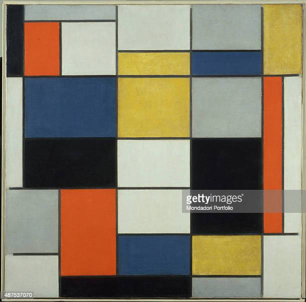 Large Composition A with Black Red Gray Yellow and Blue by Piet Mondrian 19191920 20th Century oil on canvas 91 x 91 cm Italy Lazio Rome National...