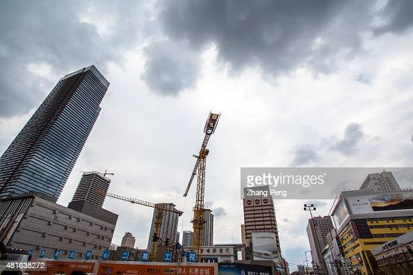 A large construction site in downtown Shenyang In the first quarter of 2015 property investment in China slowed to 46 percent while newly started...