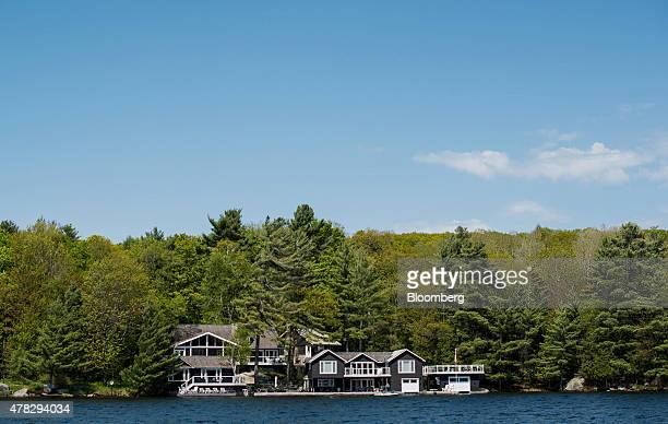 A large cottage stands on Lake Rosseau in Muskoka Ontario Canada on Saturday May 23 2015 The Canadian sanctuary of Muskoka once given away for free...