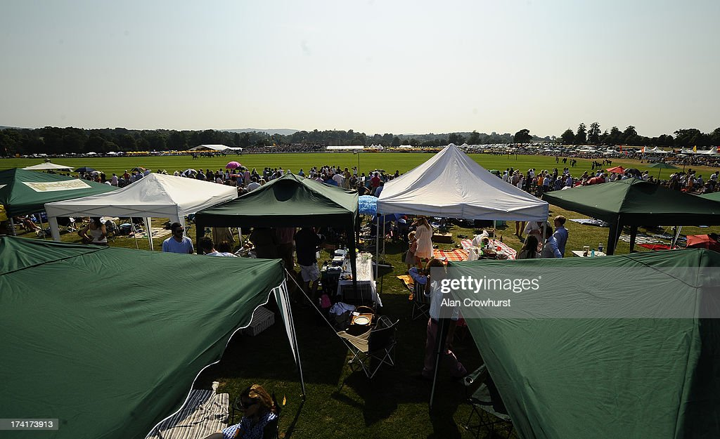 A large crowd during the The Veuve Clicquot Gold Cup for the British Open Polo Championship Final between Dubai and Zacara at Cowdray Park Polo Club on July 21, 2013 in Midhurst, England.