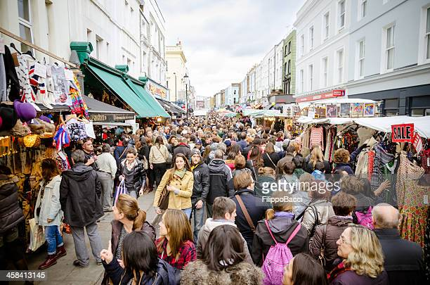 Large Crowd Of People For The Market