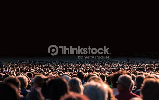 Large crowd of people : Foto de stock