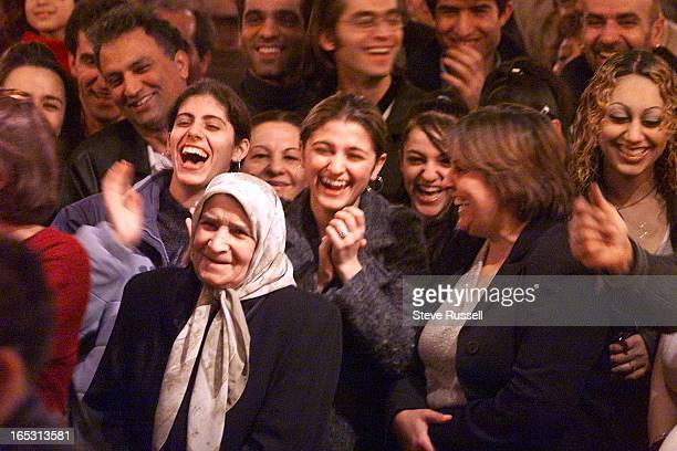 IRAN23/18/2001A large crowd reacts to dance contest at an Iranian Bazaar in Toronto March 18 2001 The Iranian New Year NawRuz arrives Tuesday morning