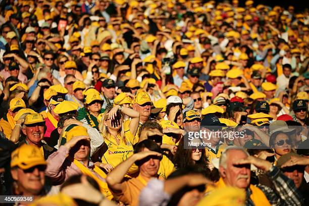 A large crowd watches the action during the International Test match between the Australian Wallabies and France at Allianz Stadium on June 21 2014...