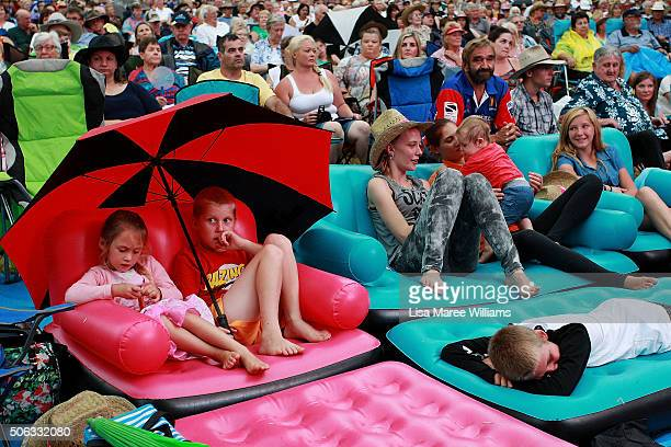 Large crowds gather to watch the Star Maker finals during the Tamworth Counrty Music Festival on January 22 2016 in Tamworth Australia The Tamworth...