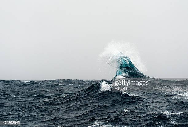 Large curling wave in the Southern Ocean