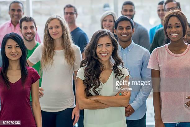 Grande grupo diverso