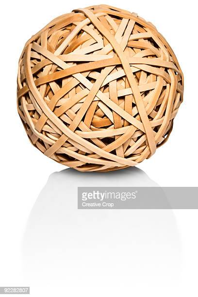 Large elastic band ball