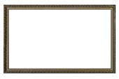 High quality details large empty picture frame isolated on white background