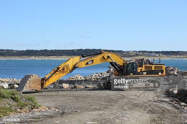 大きな 掘削機 にケープセントメアリー、ノバスコシア