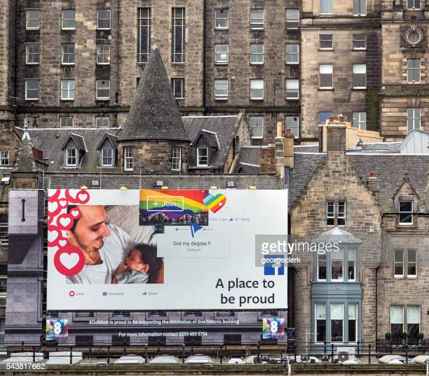 Large Facebook billboard