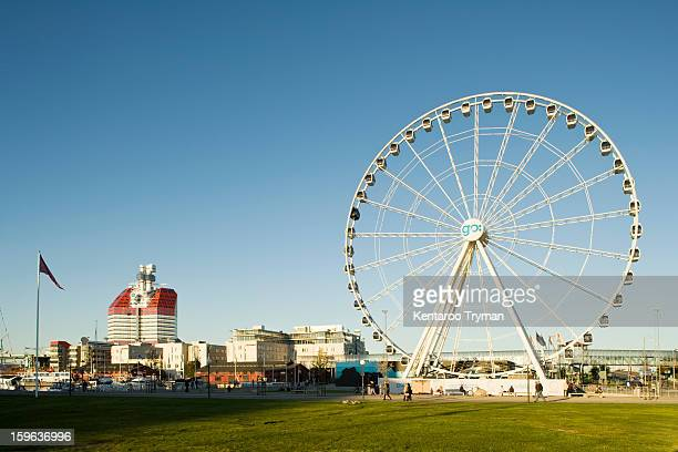 Large Ferris wheel in an amusement park