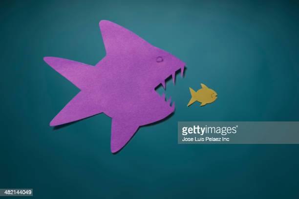 Large fish eating small fish