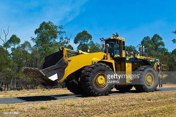 Large Frontendloader Digger on Mining road