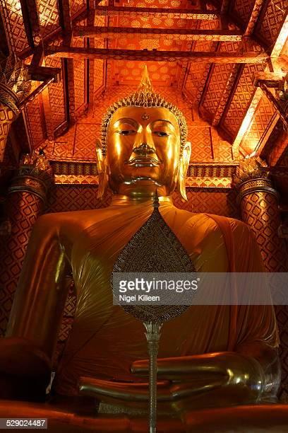 Large golden Buddha, Ayutthaya