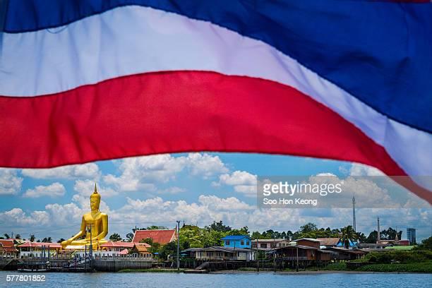 Large golden buddha of Wat Bang Chak of Nonthaburi, Thailand.